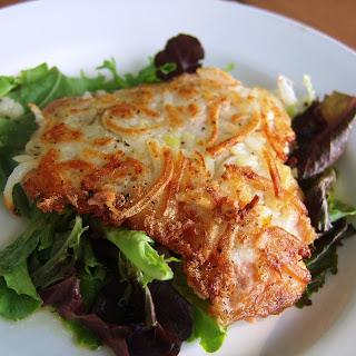 Potato Crusted Salmon With Herb Salad