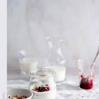 Ginger Cardamom Raspberry Jam with Yogurt and Toasted Hazelnuts.