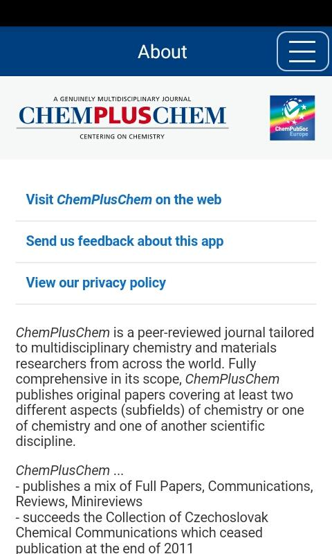 ChemPlusChem- screenshot