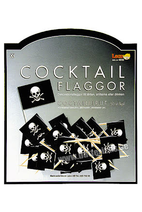 Cocktailflaggor Pirat, 50 st