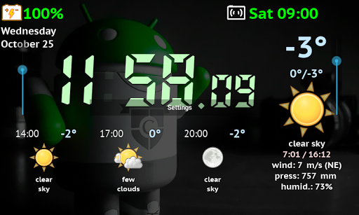 Screenshot for Weather Night Dock PRO in United States Play Store