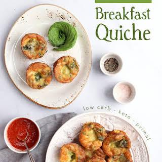 Crustless Keto Breakfast Quiche.