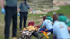 Imagen de la operación de rescate difundida por la Guardia Civil de Almería.