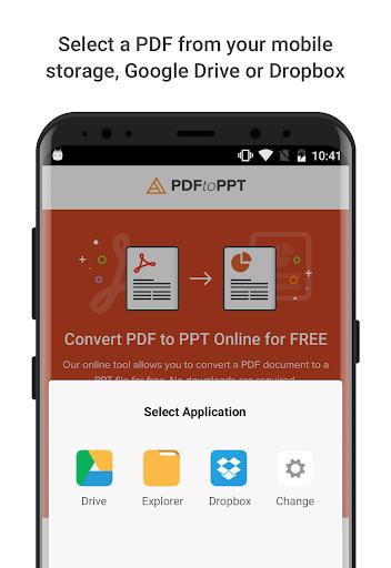 google drive convert pdf to ppt