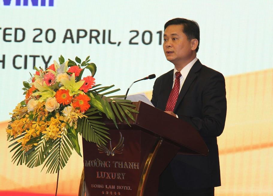 Đồng chí Thái Thanh Quý, Chủ tịch UBND tỉnh phát biểu