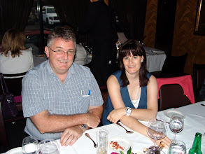 Photo: Doug Cochrane (Nom Committee Chair) and Isabelle Lavoie (DRC)