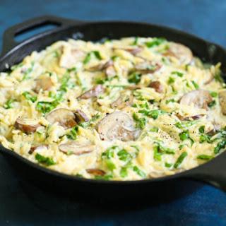 Creamy Mushroom Spinach Orzo Recipe