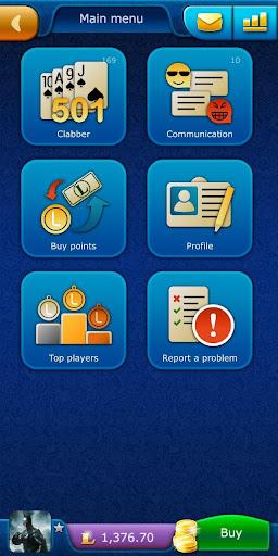 Clabber LiveGames - free online card game screenshots 1