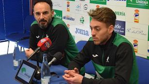 Berenguel y Ruiz en la rueda de prensa.
