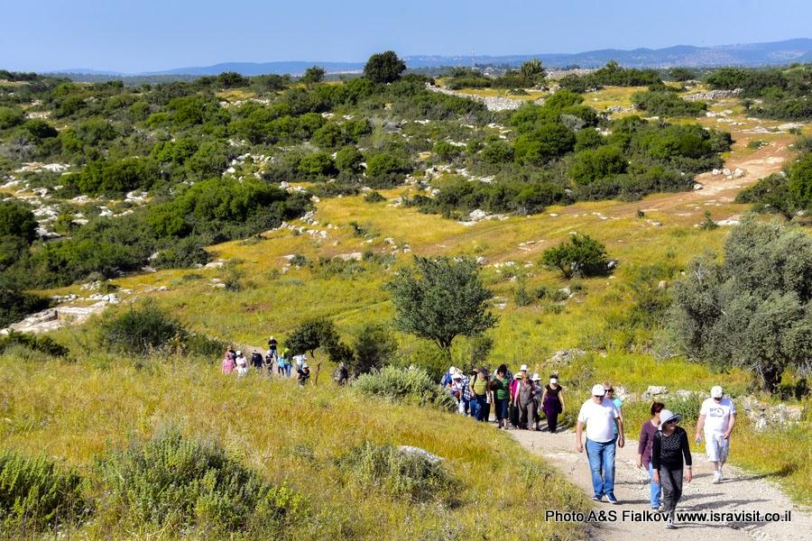 Археологический маршрут Хирват Бургин, Иудея, Израиль