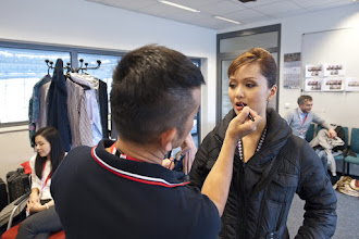 Photo: A slight touch up of makeup turns the pretty into the gorgeous.