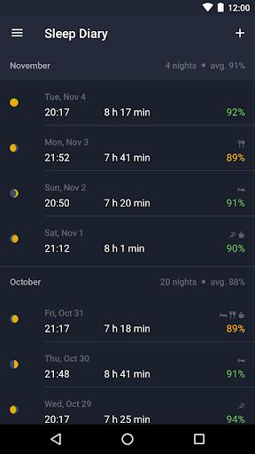 Runtastic Sleep Better: Sleep Cycle & Smart Alarm 2.6.1 screenshots 3