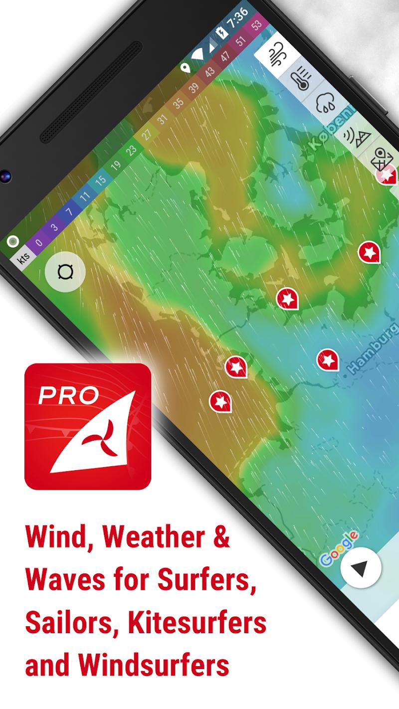 Windfinder Pro - weather & wind forecast Screenshot