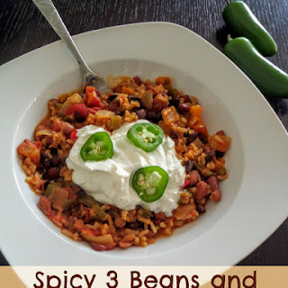 Spicy 3 Beans and Rice