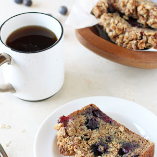 Blueberry Banana Bread with Oat Crumble