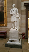 Photo: President James Garfield, 1831-1881.  Donated to the National Statuary Hall Collection by Ohio in 1886 - http://www.aoc.gov/capitol-hill/national-statuary-hall-collection/james-garfield