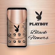 Playboy Black Flowers Theme