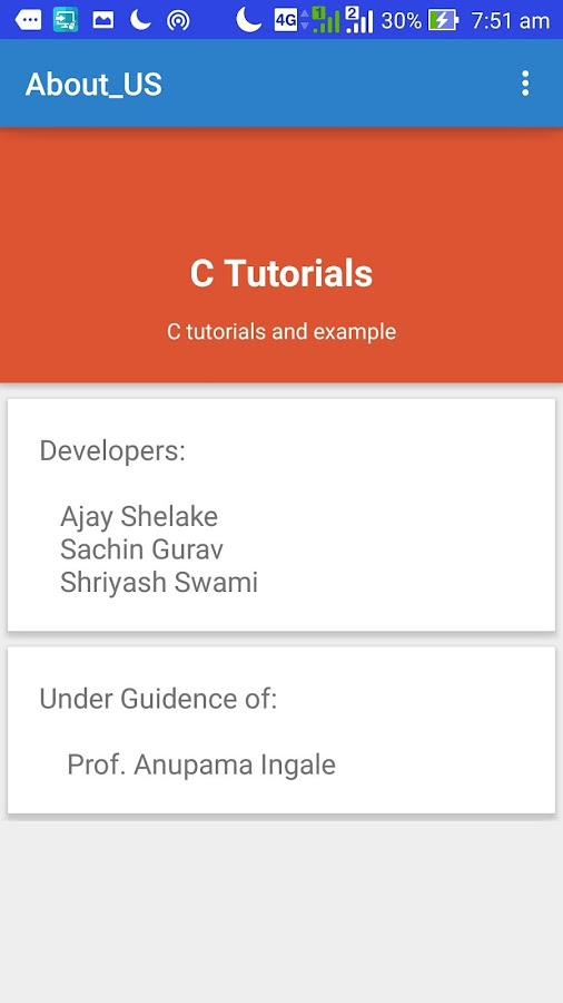 RIT C Tutorial App beginner 1- screenshot