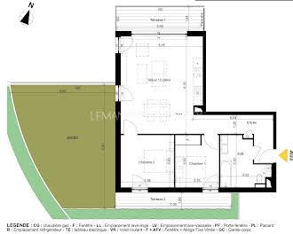 Appartement 3 pièces 67,34 m2