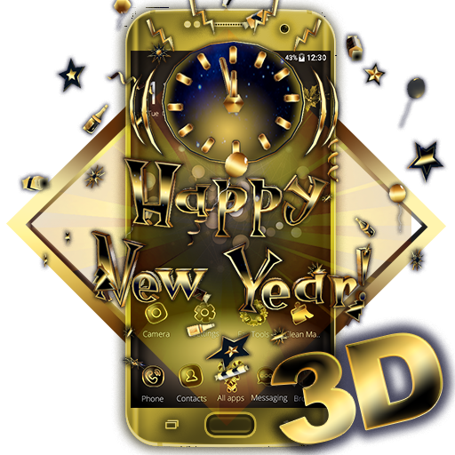 3D Gold New Year 2019 Theme