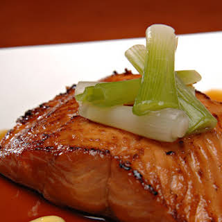 Maple Glazed Baked Salmon.