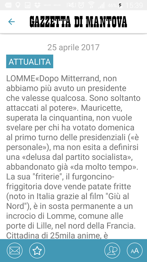 La Gazzetta di Mantova- screenshot