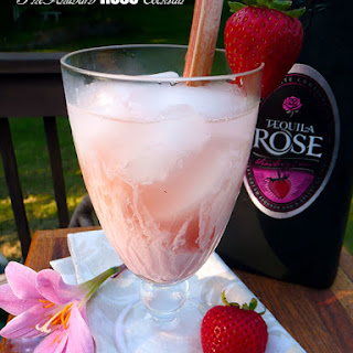 The Rhubarb Rose Strawberry Cream Cocktail