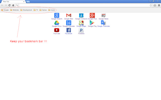 New Tab Page Injector with Bookmarks Bar