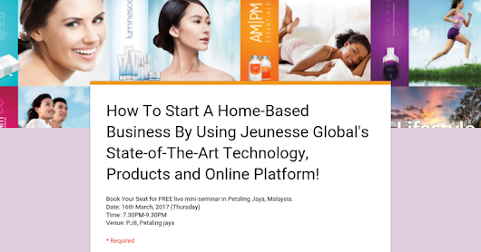 How To Start A Home-Based Business By Using Jeunesse Global's State-of-The-Art Technology, Products and Online Platform!