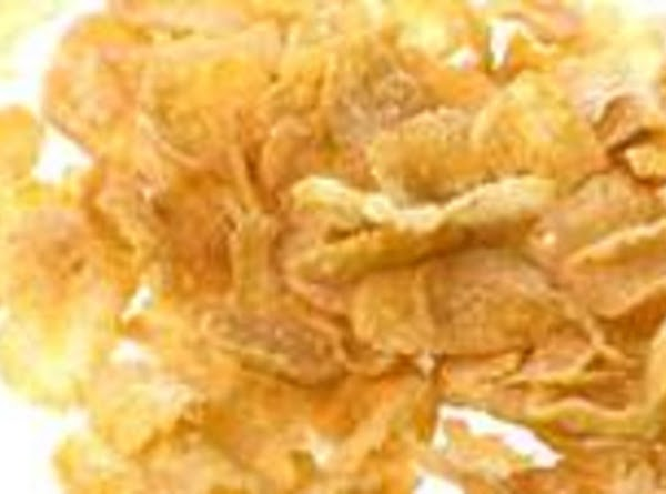 Dip chicken pieces in buttermilk mixture,dredge,coating completely with cornflake mixture.