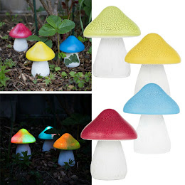 Set 2 x lampa solara in forma de ciuperca