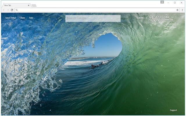 Beach & Ocean Wallpaper HD New Tab Themes