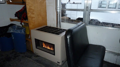 Photo: Inside the Tundra Buggies are quite toasty and nice, having a fire place....