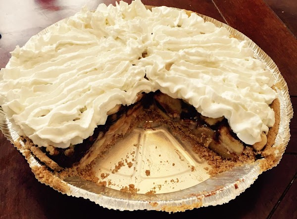 Remove pie from fridge when pie is set. 2-4 hours.  Top with whipped...