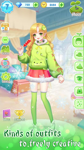 ud83dudc57ud83dudc52Garden & Dressup - Flower Princess Fairytale modavailable screenshots 7