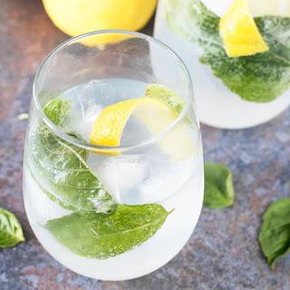 Lemon Basil Gin & Tonic.