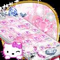 Kitten pink diamonds sweet princess theme icon