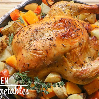 Whole Roasted Chicken with Winter Root Vegetables