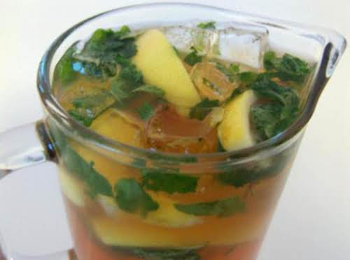 "Bourbon Mint Iced Tea ""Besides being a refreshing beverage, this Bourbon Mint..."