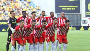 El primer once del Almería esta temporada.