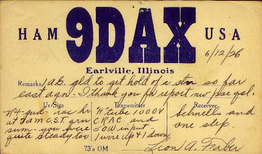 Photo: 1926 My earliest DAX Leon Faber QSL Card