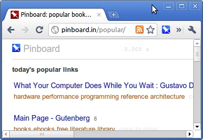 Pinboard.in 'Save a Bookmark' button