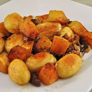 Fried Gnocchi with Butternut Squash and Walnuts