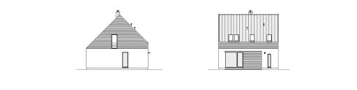 Rozważny 1 - Elewacja tylna i lewa