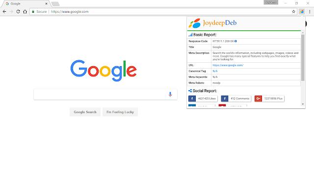 Joydeep SEO and Social Chrome Extension