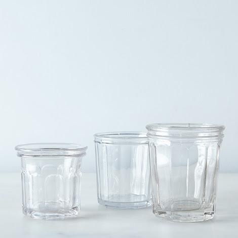 Vintage Glass Jam Jars