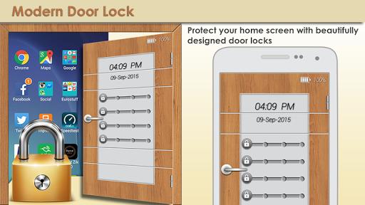 現代のドアの画面のロック