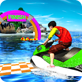 Crazy Boat Spead Racing Adventure 3D Android APK Download Free By IBM Games