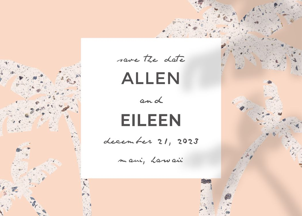 Allan & Eileen's Wedding - Wedding Invitation Template