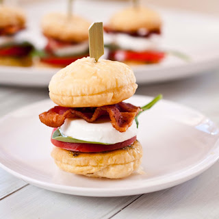 BLT Caprese Sliders With Puff Pastry Buns.